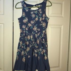 Lauren Conrad fit and flare flower dress